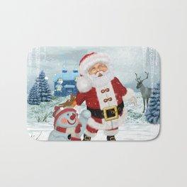 Funny Santa Claus Bath Mat