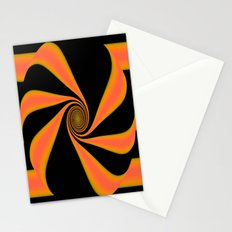 Abstract. Orange+Yellow. Stationery Cards