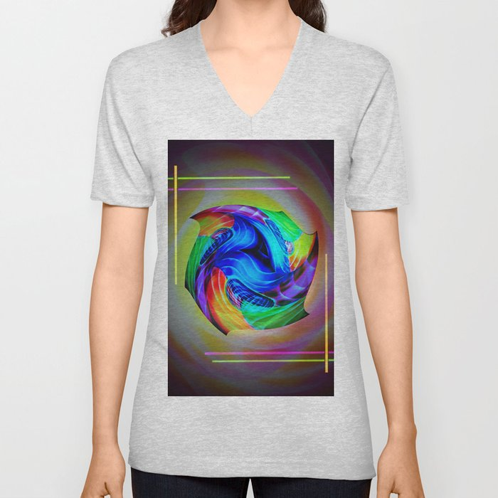 Abstract in perfection - Cube 5 Unisex V-Neck