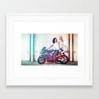 the vampire diaries Framed Art Prints featuring Motorcycle Diaries by Marcus Meisler
