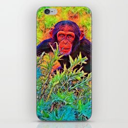 AnimalColor_Chimpanzee_003_by_JAMColors iPhone Skin