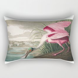 Roseate spoonbill, Birds of America, Audubon Plate 321 Rectangular Pillow