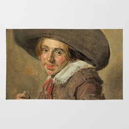 "Frans Hals ""A Young Man in a Large Hat"" Rug"