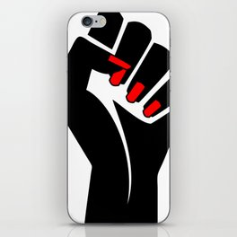 The woman's raised fist1 iPhone Skin