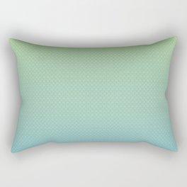 Blue & Green Scales Rectangular Pillow