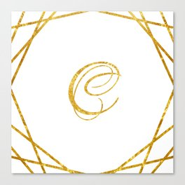 Golden C Canvas Print