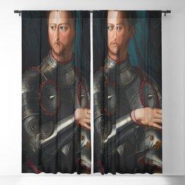 Agnolo Bronzino - Cosimo I de' Medici in armour Blackout Curtain