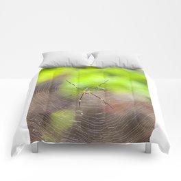 Golden silk orb weaver Comforters
