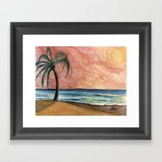 The Waves At Sunset Framed Art Print