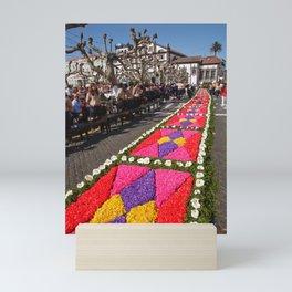 Flower carpets Mini Art Print