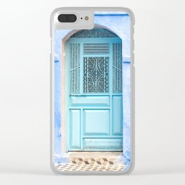 Doors - Chefchaouen VI - The Blue City, Morocco Clear iPhone Case