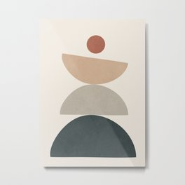 Minimal Shapes No.33 Metal Print