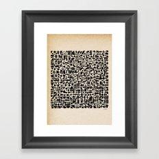 - micro - Framed Art Print
