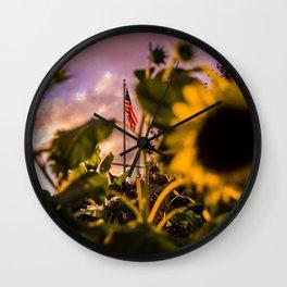 Sunset Merica Wall Clock