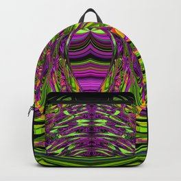 Green Spider In A Bubble - purple background Backpack