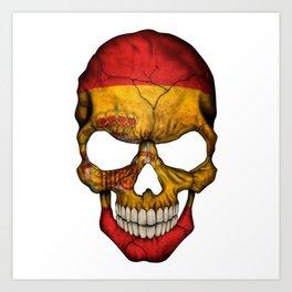 Exclusive Spain skull design Art Print