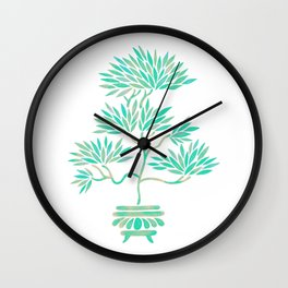 Bonsai Tree – Mint Palette Wall Clock