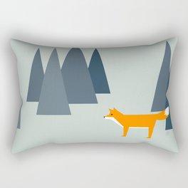 fox, woodland animals, minimal Rectangular Pillow