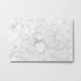 Light Grey Marble Texture Metal Print