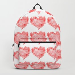 Beautiful red heart shaped hearts Backpack