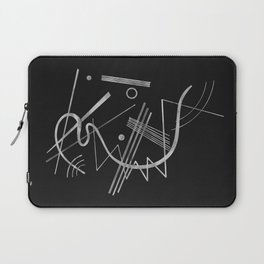 Kandinsky - Black Background Abstract art Laptop Sleeve