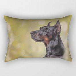 Drawing Doberman dog 2 Rectangular Pillow