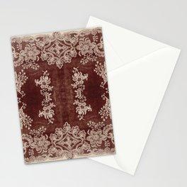 Vintage Lace Rug Pattern Stationery Cards