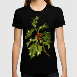 Holly Christmas Red Berry T-shirt