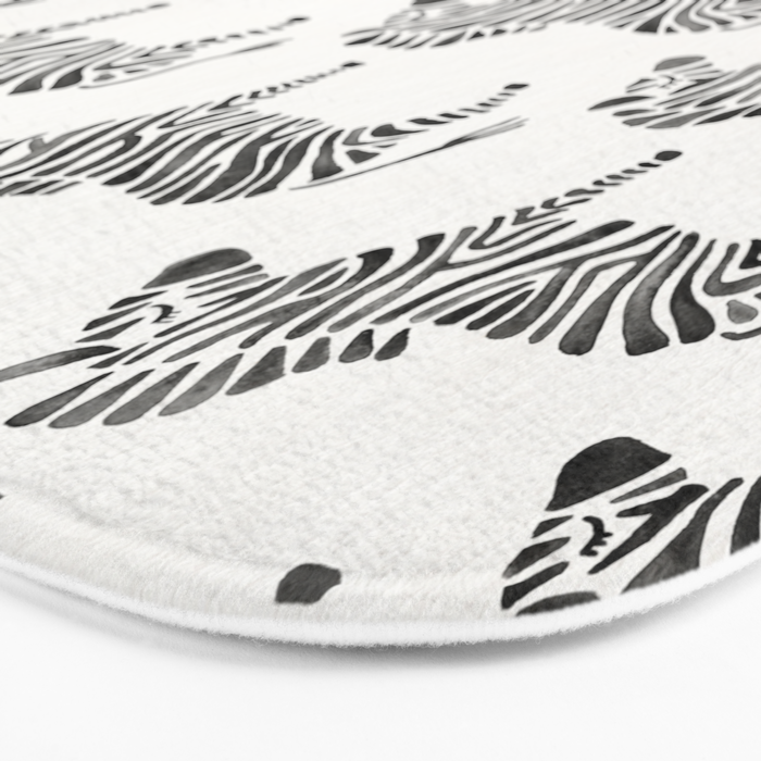Zebras – Black & White Palette Bath Mat