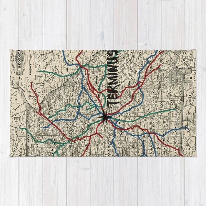 Terminus Map Rug