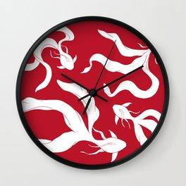 Gentle Glide | Pantone - Goji Berry Wall Clock