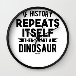Dinosaur Paleontology Science Wall Clock