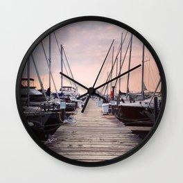 Sunrise at Northport Marina Wall Clock