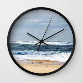 Nobbys Beach Wall Clock