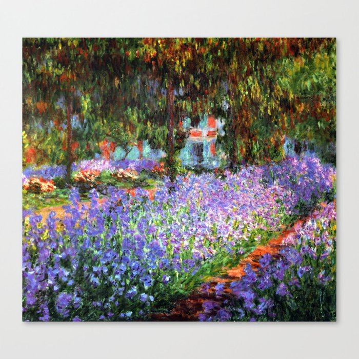Claude Monet The Artist's Garden at Giverny Leinwanddruck