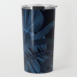 Navy Leaf Travel Mug