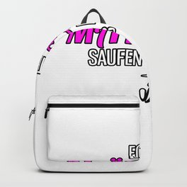 Women Girls Beer Drinking Alcohol Backpack