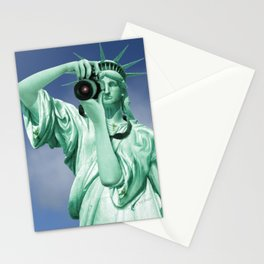 Say cheese for Liberty! Stationery Cards