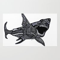 jaws Area & Throw Rugs featuring Jaws by Lauren Moore