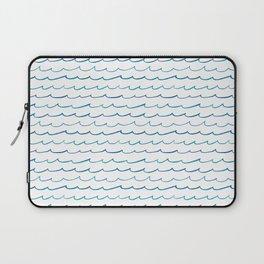 watercolor waves Laptop Sleeve