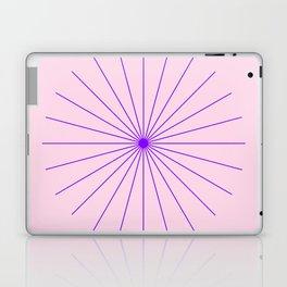 SpikeyBurst - Pastel Pink Background with Purple Laptop & iPad Skin