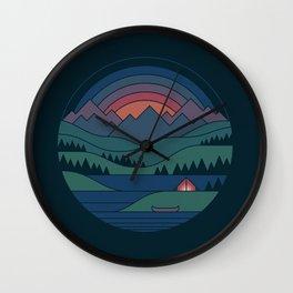 The Lake At Twilight Wall Clock