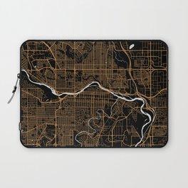 Calgary | Alberta | Canada - Minimalist City Map Laptop Sleeve