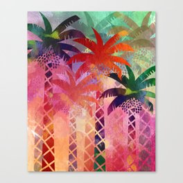 Date Palm Oasis Canvas Print