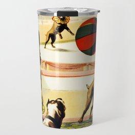 Barnum and Bailey Circus Football Dogs Travel Mug