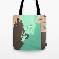 vampire diaries Tote Bags featuring Vampire by 5wingerone