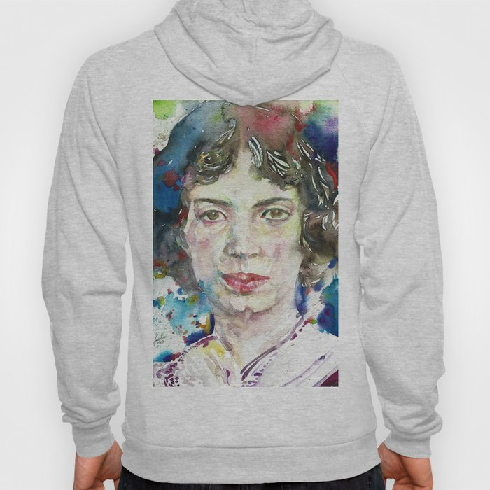 EMILY DICKINSON - watercolor portrait.3 Hoody