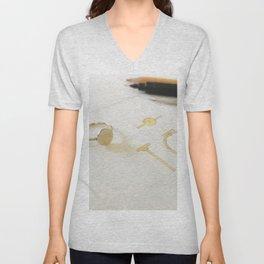 Signet Ring Sketch Unisex V-Neck