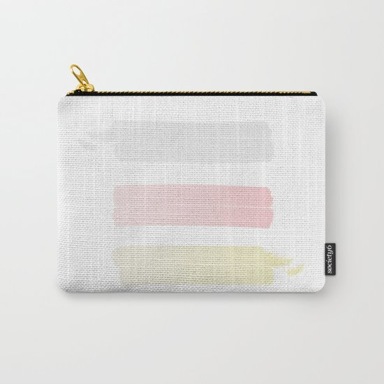 silver pink and gold Carry-All Pouch