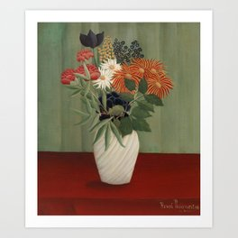 Bouquet of Flowers with China Asters and Tokyos Art Print